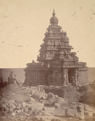 General view from the north-west of the Shore Temple, Mamallapuram 10032235
